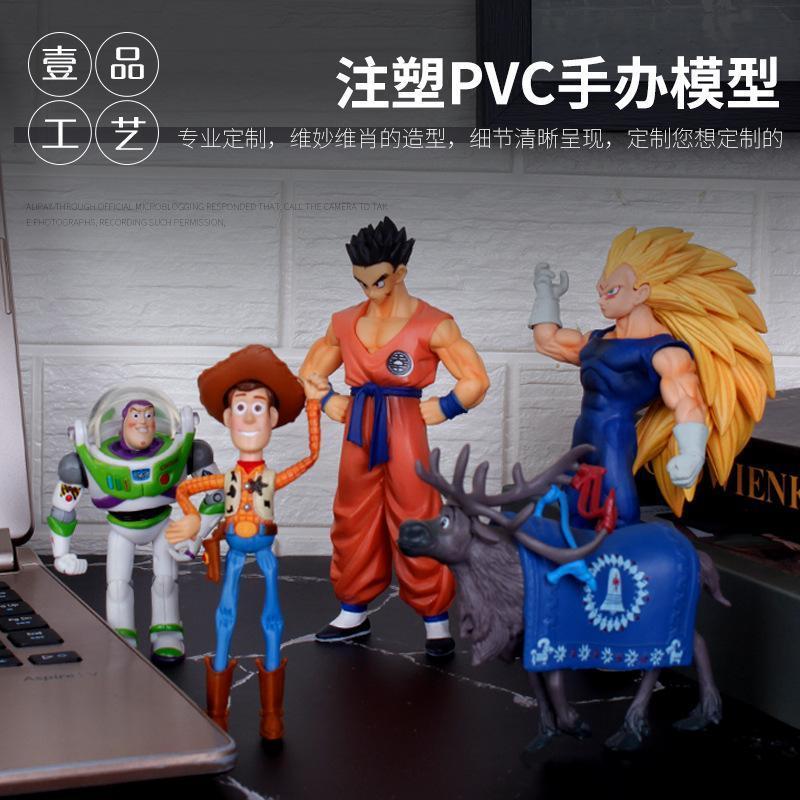企業吉祥物來圖定做 pvc搪膠公仔玩具定製 精品卡通動漫手辦定製