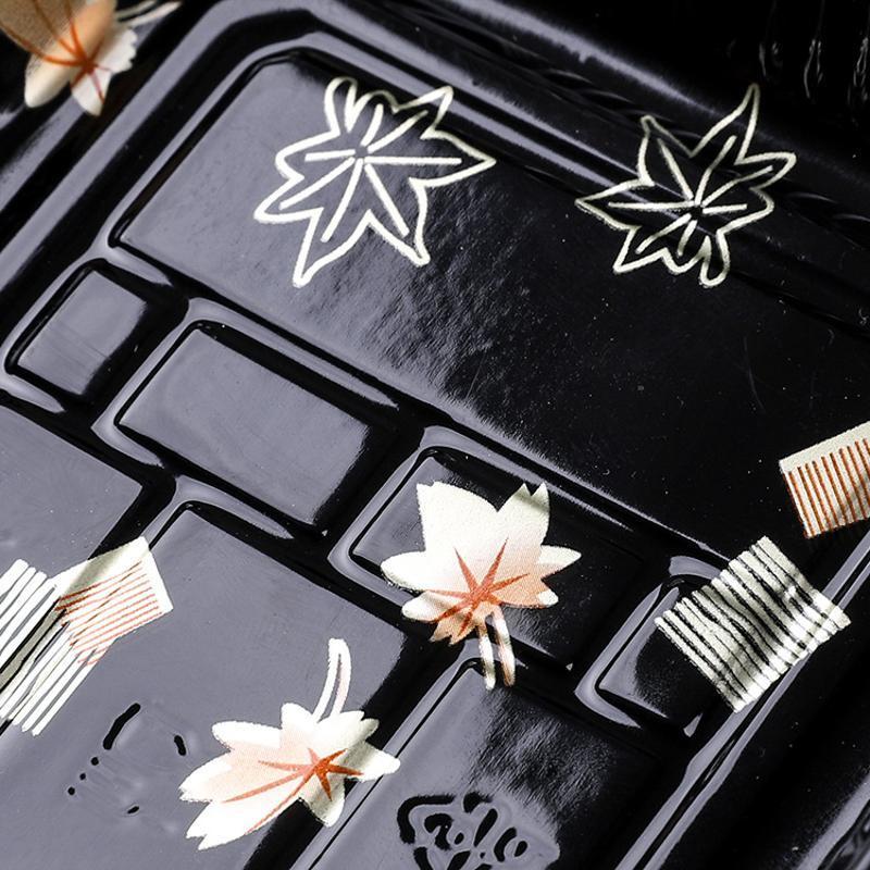 月饼饼干包装寿司酱油碟小调料托盘塑料印花寿司盒果脯包装盒子