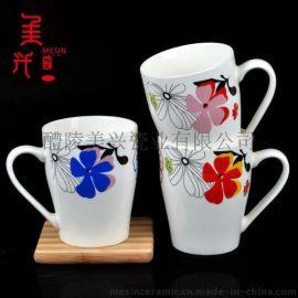 醴陵廠家庫存強化瓷烤花陶瓷杯 陶瓷馬克杯批發