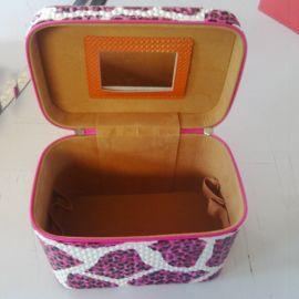 义乌厂家生产化妆品皮制工具箱 化妆品工具箱包 手提工具箱可定做