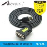 鼎力D-005 USB转串口线 1.5米厂家供应