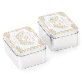 精油皂铁盒包装 精品手工皂铁盒 手工皂铁罐