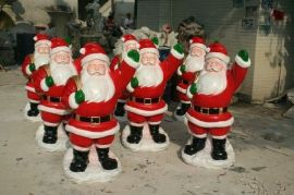 节日装饰卡通  圣诞老人雕塑模型