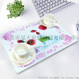 迪士尼认证工厂定制食品级硅胶餐垫 防滑隔热垫创意环保硅胶杯垫