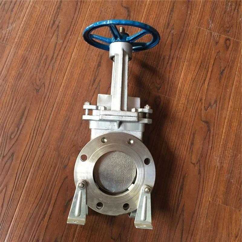 PZ73X-10P手動不鏽鋼刀型閘閥 DN100