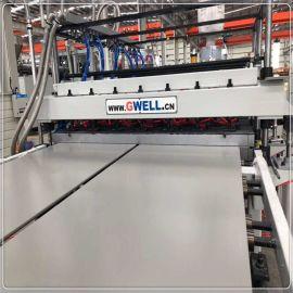 金韦尔PP芯层发泡建筑模板生产线设备 PP建筑模板
