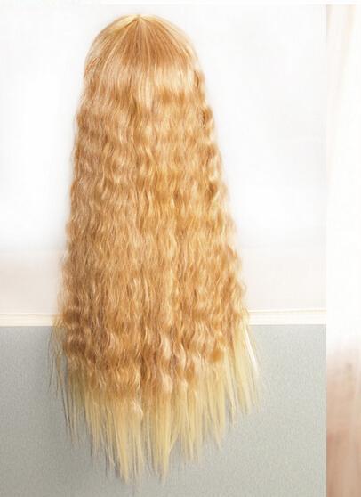 玉米烫长发逼真蓬松整顶发套