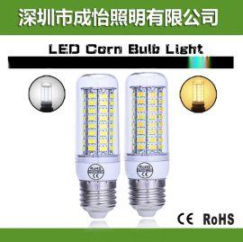 led玉米灯5730 72SMD 节能灯 LED灯泡 E27 E14 220V/110V CE