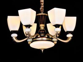 琪美8836客厅吊灯欧式大气现代简约简欧吊灯美式复古锌合金餐厅卧室灯饰具