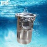 泳池高效水處理設備  不鏽鋼直通平底式籃式過濾器廠家