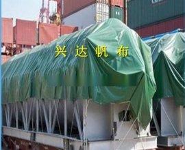 绿色盖货防雨帆布