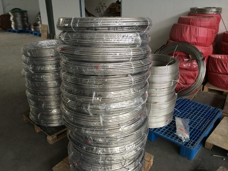 冷拔不鏽鋼無縫盤管 TP316L 9.53x0.71