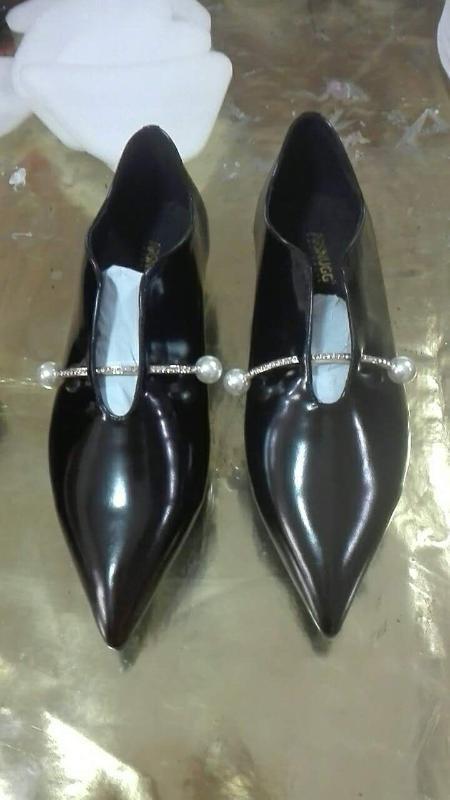 来样加工外贸真皮时装鞋