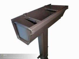 彩铝落水系统 金属成品天沟 铝合金屋面接水檐槽 7寸K形凹槽