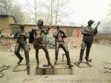 拉小提琴人物雕塑小品,小提琴演奏雕塑