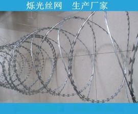 菱形刀刺网 焊接钢笆片 最新低价刀片刺绳机场专用