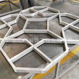 佛山铝窗花方管焊接工艺铝合金窗花造型中式木纹铝窗花
