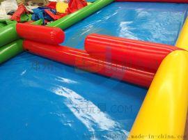 廣東兒童充氣水池加厚PVC遊泳池摸魚池