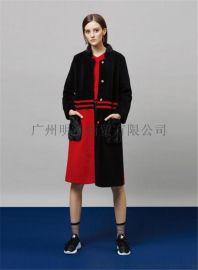 雙面羊絨大衣女裝折扣店加盟就到廣州明浩