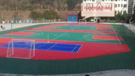 云南拼装悬浮地板公司冀湘冠篮球场拼装地板