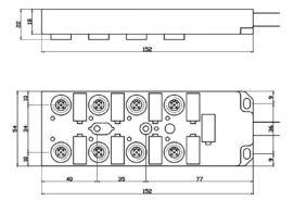 DEVICENET分配器,M12/M8中央集线器