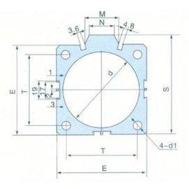 SDA铝合金薄型气缸管B型(J007)