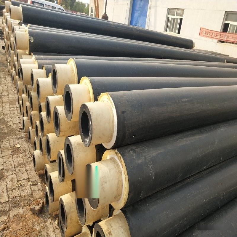內蒙古 聚氨酯熱力直埋管 鋼預製保溫管2019