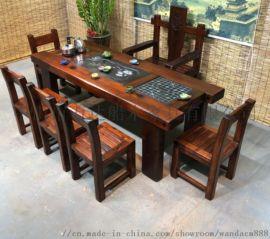 万达船木家具 船木茶桌办公桌