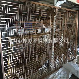 上海不锈钢屏风 玫瑰金屏风 酒店装饰背景墙加工