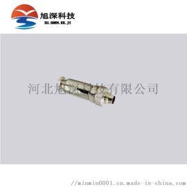 重强板前安装防水连接器M9-2B2/8B2插头插座