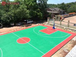 长沙  操场塑胶篮球场跑道天恒厂家施工