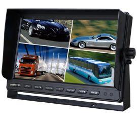 加尼鹰10.1寸车载显示器 内置四分割 遮阳板U型支架安装设计 收割机货车可接4个摄像头车载全面监控