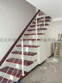 实木楼梯钢木楼梯楼梯 武汉福森z126楼梯 护栏扶手楼梯