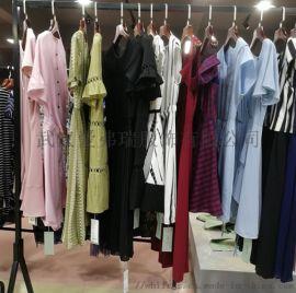 品牌女装货源丽贝瑞拉连衣裙折扣尾货