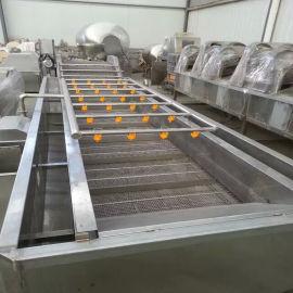 瓜果蔬菜清洗设备 食品厂用气泡清洗机 节水耐用定制