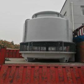 优质供应高温圆形逆流工业冷却塔 定制圆形逆流式玻璃钢冷却塔