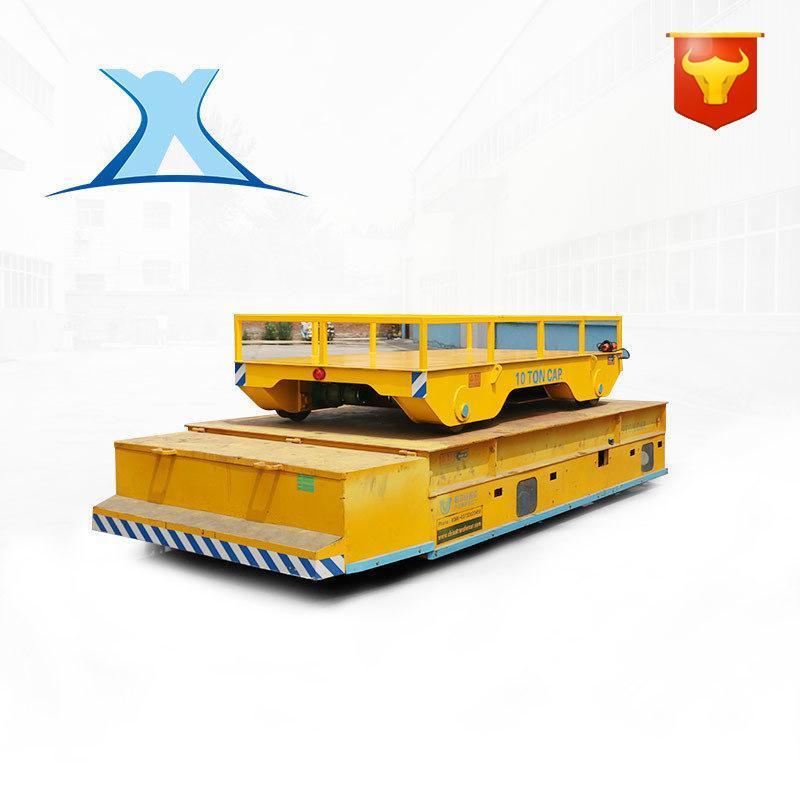 机械搬运装载工具车间过跨车轨道重载电动搬运车