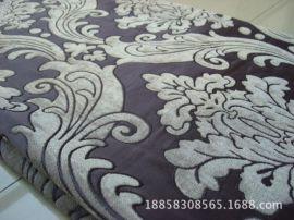 欧式大提花雪尼尔沙发布 仿黏胶雪尼尔装饰布常年坯布生产500米起