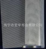 生产优质PVC小方格透明夹网布、化装袋、文件袋、手袋箱包用布