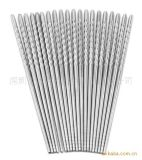 廠價直銷高品質不鏽鋼麻花筷 中空筷 方頭筷子