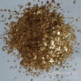 供应天然金色岩片 金色亮片 多彩复合岩片 防水染色云母片