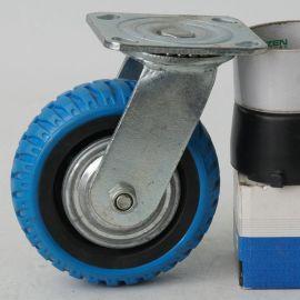 6寸工業蘭烽火腳輪 TPR靜音載重耐磨輪子軲轆 手推車省力定向腳輪