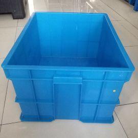 蓝色塑料周转箱,PE全新料塑料箱,上海塑料周转箱