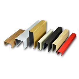 U型铝方通木纹表面处理集成吊顶铝方通定制规格