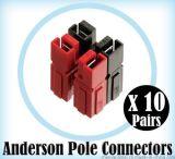單極電源連接器 (75A)、UPS電源連接器、安德森插座
