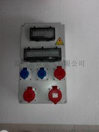 不锈钢插座箱 防水检修箱 组合电源箱  尼龙插头插座