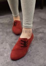 海芋25902015新款秋季女鞋平底平跟单鞋休闲韩版外贸鞋