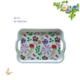 密胺餐具塑料美耐皿40115 14 15 17寸酒店托盘浙江工厂