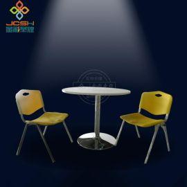曲木快餐桌椅组合 肯德基快餐店分体 双人快餐桌椅