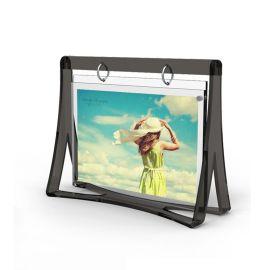 溫馨創意6寸婚紗照相架畫框 亞克力個性兒童擺臺相框訂製 透明水晶鞦韆相框